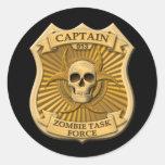 Zombie Task Force - Captain Badge Sticker