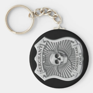 Zombie Task Force - Sergeant Badge Basic Round Button Key Ring