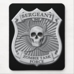 Zombie Task Force - Sergeant Badge Mouse Pad