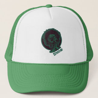 Zombie-Teal Green Circle Trucker Hat