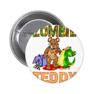 Zombie Teddy 6 Cm Round Badge