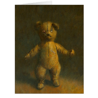 Zombie Teddy Bear Large Greetings Card