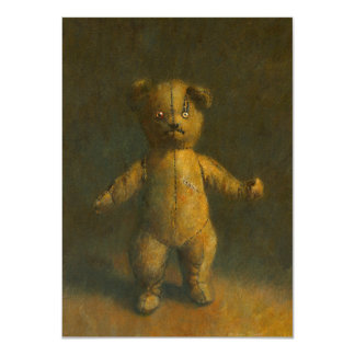 Zombie Teddy Invitation Card