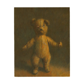 Zombie Teddy Wooden Canvas Wood Wall Art