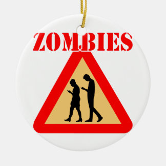 Zombie Teens With Cell Phones Christmas Ornament