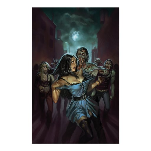 ZOMBIE TERRORS COVER IMAGE BY ALY FELL POSTER