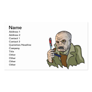Zombie Time Double-Sided Standard Business Cards (Pack Of 100)