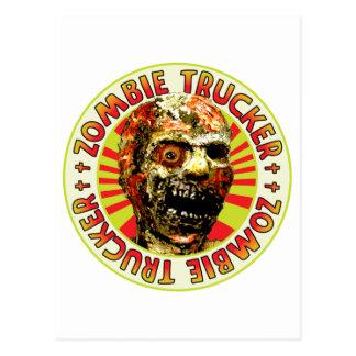 Zombie Trucker Postcard