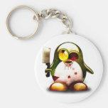 Zombie Tux (Linux Tux) Keychain