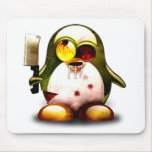 Zombie Tux (Linux Tux) Mousepads