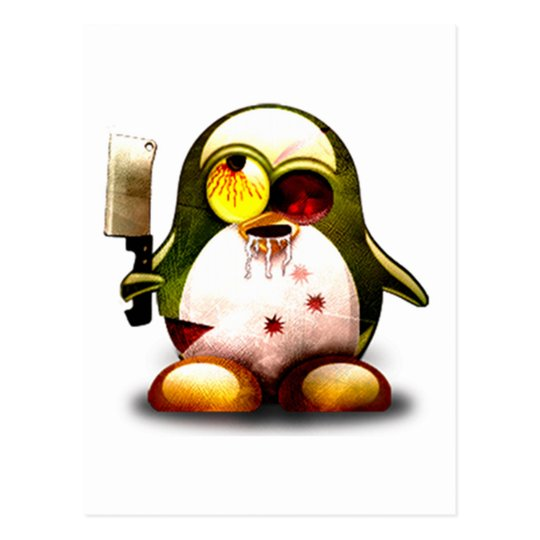 Zombie Tux (Linux Tux) Postcard