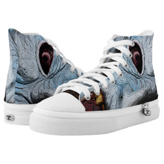 Zombie Twisted Head By BoardZombies Skatewear Printed Shoes