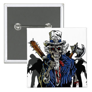 Zombie Uncle Sam 15 Cm Square Badge