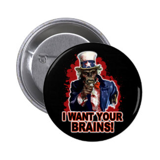Zombie Uncle Sam 6 Cm Round Badge