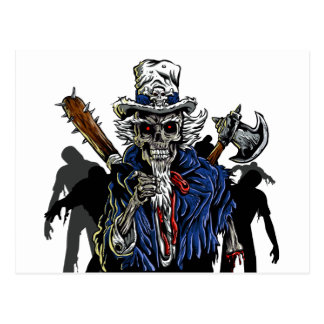 Zombie Uncle Sam Postcard