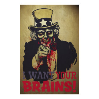Zombie Uncle Sam Print