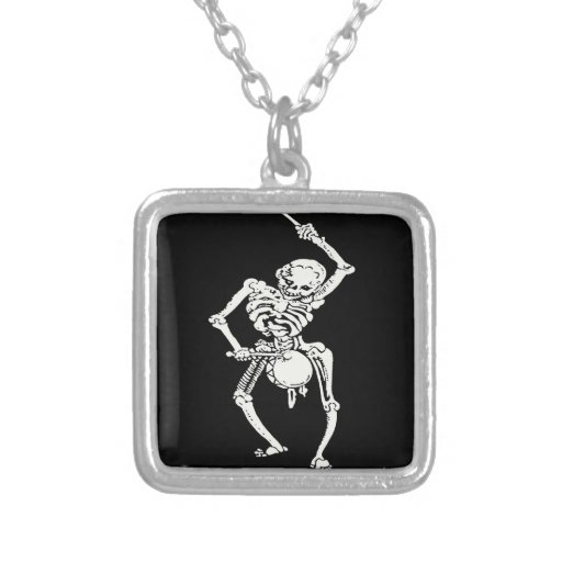 Zombie Undead Skeleton Marching and Beating A Drum Pendant