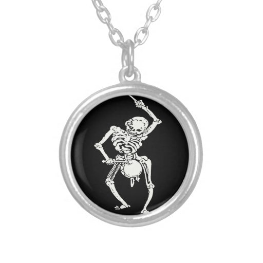 Zombie Undead Skeleton Marching and Beating A Drum Pendants