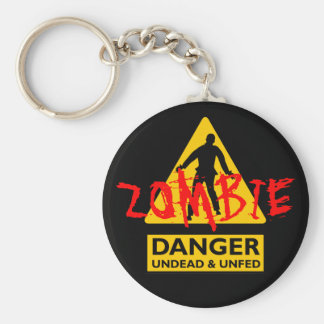 Zombie Undead & Unfed Basic Round Button Key Ring