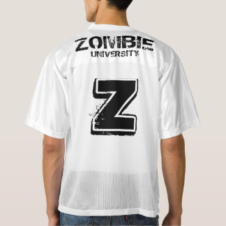 ZOMBIE UNIVERSITY FOOTBALL by Slipperywindow Men's Football Jersey
