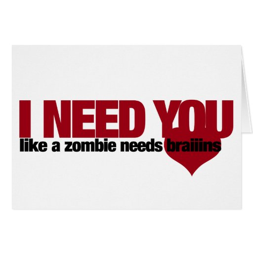 Zombie Valentines Day Cards