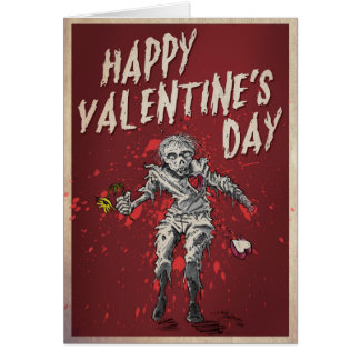 Zombie Valentine's Day Humor Greeting Card