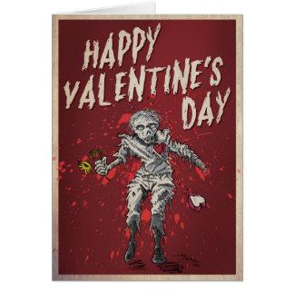 Zombie Valentine's Day Humour Card