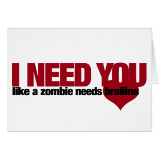 Zombie Valentines Day Note Card
