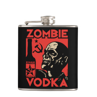 Zombie Vodka flask