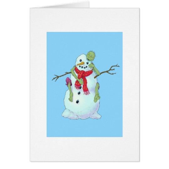 zombie vs snowman card