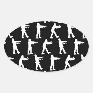 Zombie Walk Oval Sticker