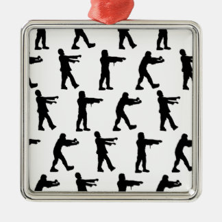 Zombie Walk Silver-Colored Square Decoration