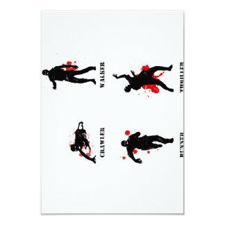 zombie walker crawler 9 cm x 13 cm invitation card