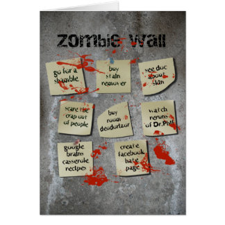 Zombie Wall Card