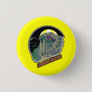 Zombie Walrus - On Yellow 3 Cm Round Badge