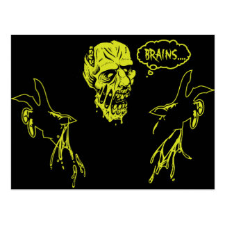 Zombie Wants Brains Postcard