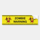 Zombie Warning Bumper Sticker
