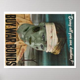 Zombie wars: Buy war bonds! Poster