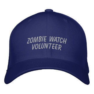 Zombie Watch Volunteer Embroidered Baseball Cap