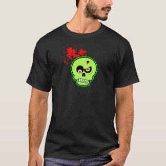 Zombie With Bullet Hole In Head T-Shirt