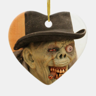 Zombie with Cigar and Top Hat Christmas Ornament