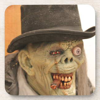 Zombie with Cigar and Top Hat Drink Coasters