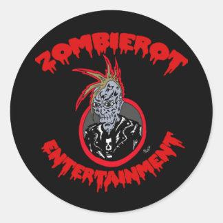 """Zombie Xtoph"" Zombierot Logo Sticker"