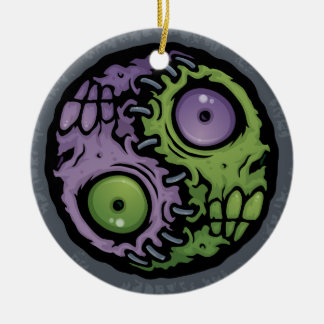 Zombie Yin-Yang Christmas Ornament