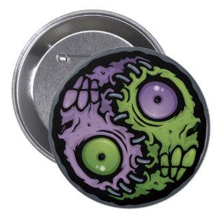 Zombie Yin-Yang Pinback Button