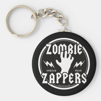 ZOMBIE ZAPPERS BASIC ROUND BUTTON KEY RING