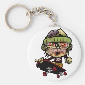 Zombie Zim Basic Round Button Key Ring