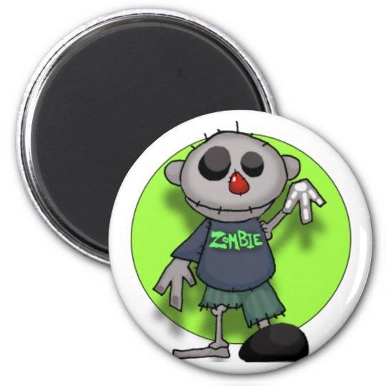 zombie zombie 6 cm round magnet
