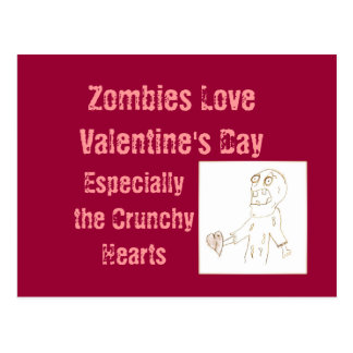 Zombie Zombies Postcard for Valentine's Day