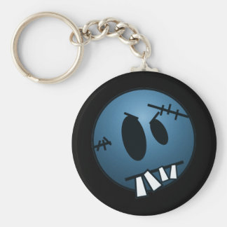 ZOMBIECON FACE - BLUE BASIC ROUND BUTTON KEY RING